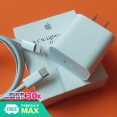 Bộ sạc nhanh 18W dùng cho Pro Max, iPhone 11, iPhone XS Max, iPhone XS, iPhone X, iPhone 8 Plus, iPhone 8 (Adapter sạc nhanh & Cáp type C to Lighning) (Power Delivery 3.0 18W)