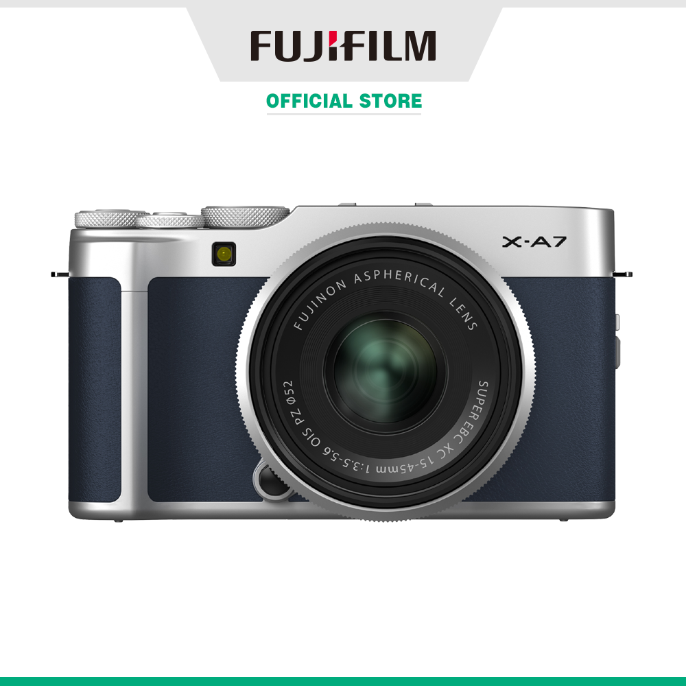Máy ảnh kỹ thuật số Fujifilm X-A7/XC15-45 Xanh biển