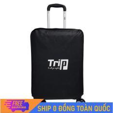 [MIỄN PHÍ SHIP] Áo trùm vali vải không dệt màu đen có 3 size/ Áo trùm bảo vệ vali chống trầy trước, chống bám bụi