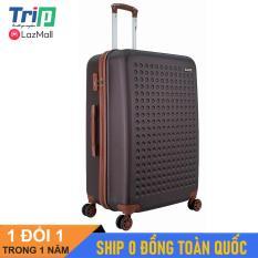 [MIỄN PHÍ SHIP] Vali TRIP P803A Size 28inch (Màu Cafe) – Vali TRIP nhựa cao cấp siêu bền, size lớn đựng 30kg hành lý