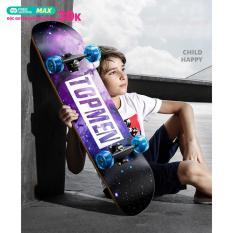 [ SIÊU SALE CỰC HOT ] Ván Trượt Skateboard Cao Cấp , Ván Trượt Mặt Nhám Bánh Cao Su Cỡ Lớn (Đạt Chuẩn Thi Đấu) , Ván Trượt Thể Thao Gỗ Phong Ép 8 Lớp Mặt Nhám SALE 50%
