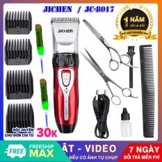 (Bảo Hành 12 tháng)tông đơ cắt tóc gia đình JC0817, Tăng đơ jichen + tặng bộ kéo cắt tỉa + 2 dụng cụ lấy ráy tai có đèn