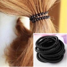 Combo 10 sợi buộc tóc lò xo đen