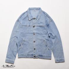 ROUTINE áo denim jacket thời trang nam giã thân 3 mảnh sau