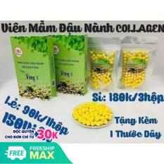combo 3 hộp viên mầm đậu nành collagen dm tăng vòng 1