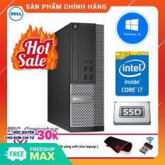 Case máy tính để bàn Dell Optiplex 9020 SFF cpu Intel Core i7 4790, ram 16GB, Ổ cứng SSD 256GB. Hàng Nhập Khẩu.Tặng Bàn Di Chuột và USB Thu Wifi.Bảo hành 2 năm [ máy tính đồng bộ dell ]