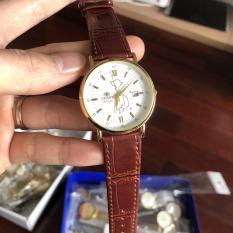 Đồng hồ nam orient máy pin dây da