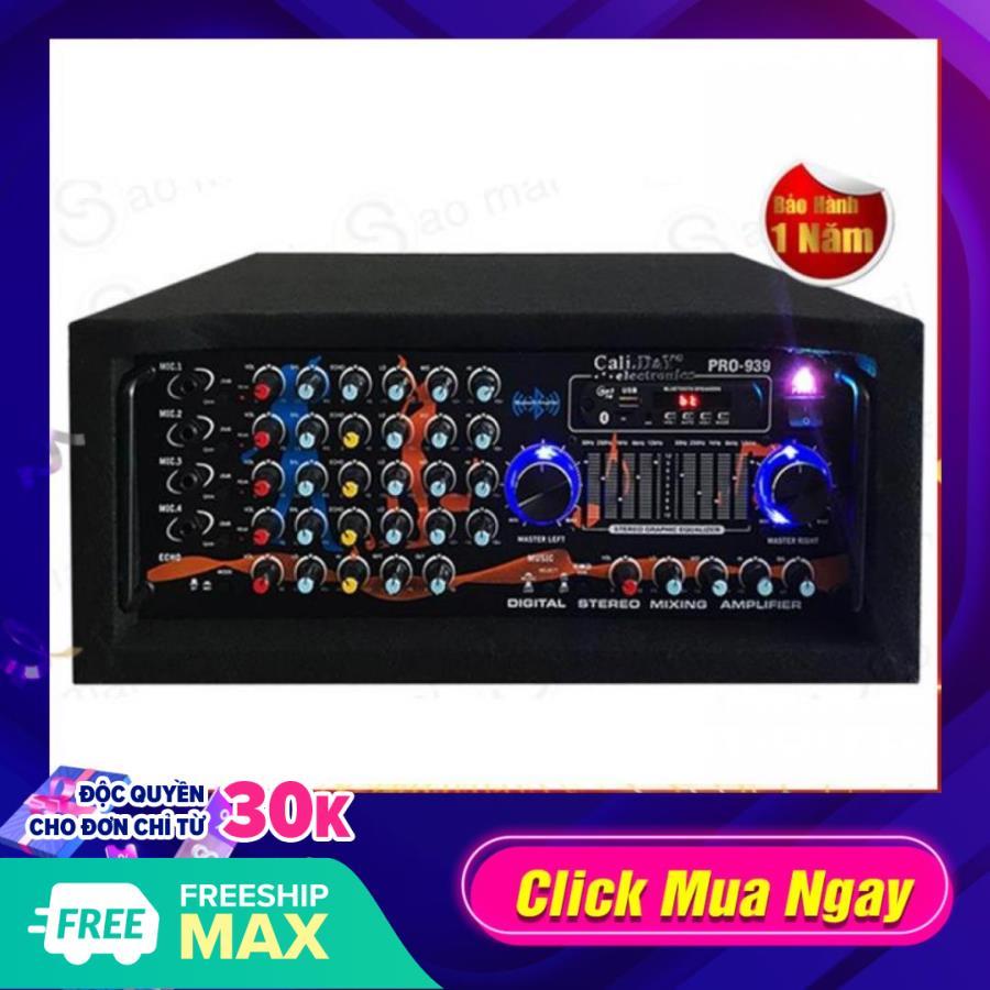 Ampli karaoke Amply 16 sò toshiba nhật bản nghe nhạc gia đình BLUETOOTH Cali.D&Y PRO-939 - 10 cần Equalizer (...