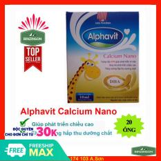 Alphavit Calcium Nano, bổ sung canxi – 1 hộp có 20 ống – 1 ống chưa 10ml dạng nước – HSD 2023 – Binzinson