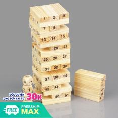 Bộ đồ chơi rút gỗ 54 thanh kèm 4 con súc sắc cho bé đồ chơi trí tuệ độc đáo giúp giải trí sau những giờ làm việc, học tập mệt mỏi