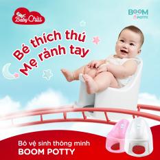 Bô vệ sinh trẻ em Boom Potty cho bé 7 tháng đến 4 tuổi Có lỗ mở phía trước dễ rửa Đế khớp chắc chắn với bệ toilet