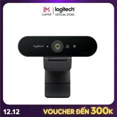 [Nhập mã EXCLUSIVE giảm 10%] Webcam Logitech Brio 4K – Webcam 4K với HDR và hỗ trợ Windows Hello, Dành cho Streaming HD Webcam 1080p, Gọi/Quay video,