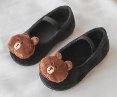 Giày búp bê mặt gấu ngộ nghĩnh cho bé gái, chất bông êm mềm