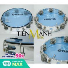 Trống lắc tay – Lục lạc gõ bo Yamaha MT6-102B (Xanh Trong Suốt – Trống chơi nhạc chế gõ po – Xipo)