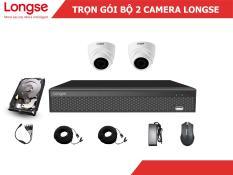 Combo bộ kit Longse 2 mắt dome nhựa 1080P-LITE