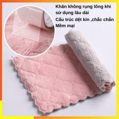 BỘ 3 Khăn lau bếp , Khăn lau chén chống dính dầu SOTY KB-08 Không rụng lông, hút nước tốt ( 2 Size )