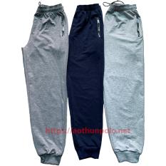 [HCM]Quần jogger 2 túi kéo khoá vải da cá hàng đẹp