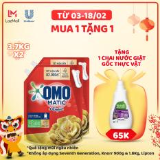 Combo 2 Túi Nước Giặt OMO Matic Comfort Hương Tinh dầu thơm 3.7kg