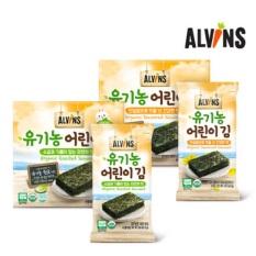 Rong biển hữu cơ ăn liền không muối Alvins cho bé