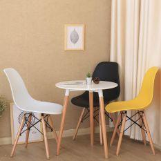 Ghế Nhựa Chân Gỗ Eames Đủ Màu