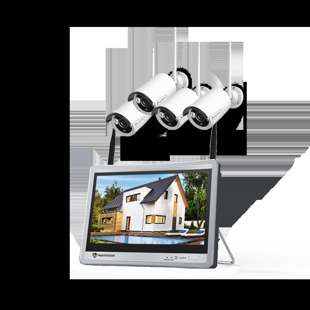 Hệ thống Camera an ninh HM243, 1080P + Màn hình LCD 12inch