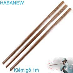 Mô hình kiếm gỗ katana nhật bản làm bằng gỗ dài 1m ,dùng để tập luyện võ thuật hoặc trưng bày, đổi trả miễn phí