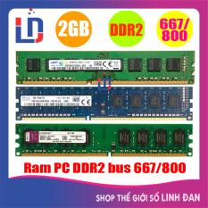 Ram máy tính để bàn 2GB DDR2 bus 667 / 800 (nhiều hãng) samsung hynix kingston tốc độ bus cao tiết kiệm điện – PCR2 2GB