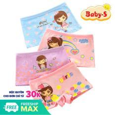 Quần chip đùi cotton hình cô bé nhiều màu sắc cho bé gái 2-12 tuổi chất cotton nhẹ mát co giãn thoải mái Baby-S – SC005
