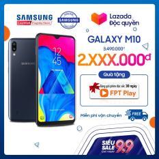 Điện thoại Samsung Galaxy M10 16GB (2GB RAM) – Hàng phân phối chính hãng. Màn hình siêu tràn viền 6.2 inch, camera kép góc siêu rộng 13MP/5MP