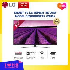Smart TV LG 55inch 4K UHD – Model 55SM8100PTA (2019) độ phân giải 3840×2160, hệ điều hành webOS 4.0, trí tuệ nhân tạo AI – Hãng phân phối chính thức