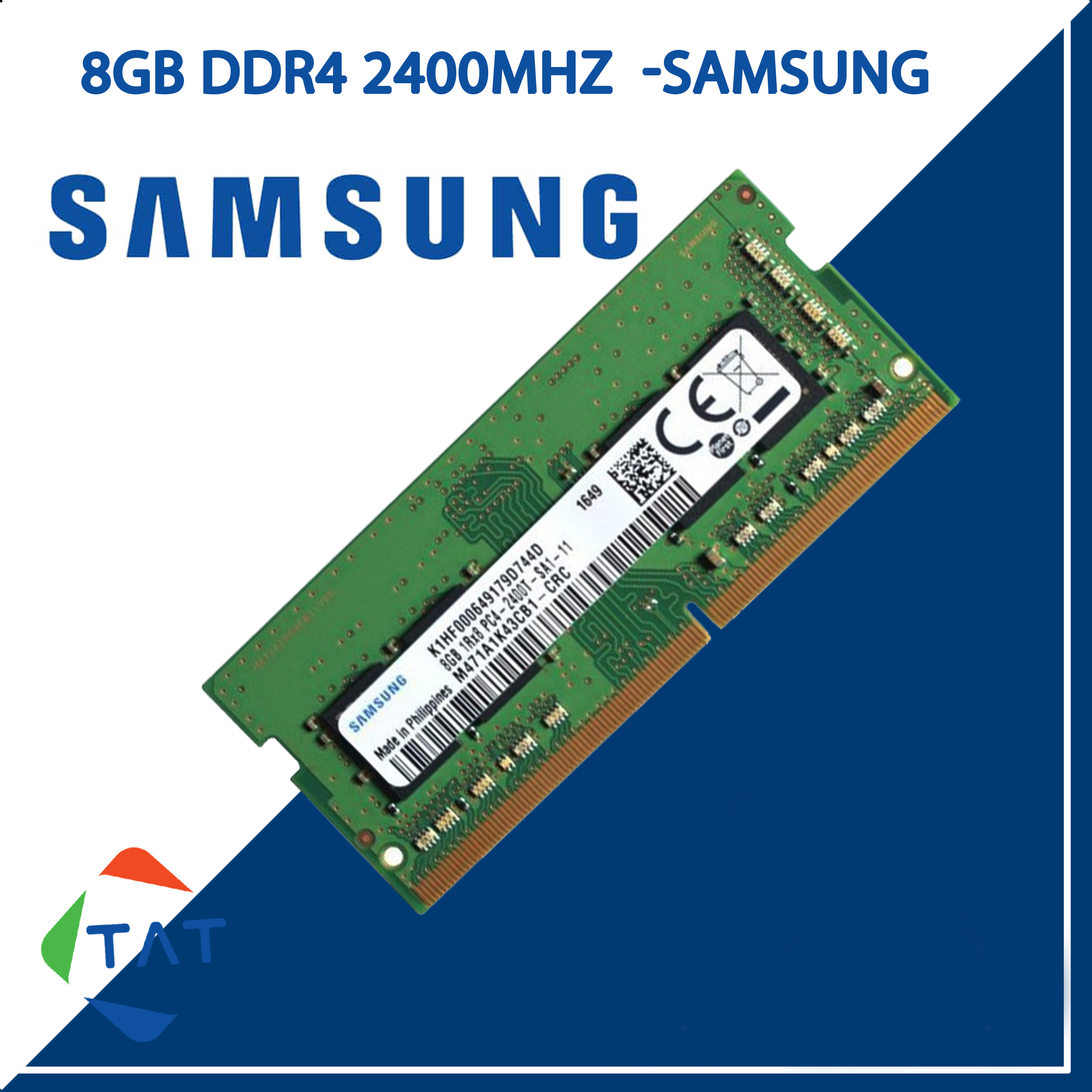 RAM Laptop Samsung 8GB DDR4 Bus 2400MHz 1.2V Dùng Cho MacBook Máy Tính Xách Tay ,chuyên dùng cho ứng dụng...