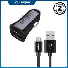 Sạc Energizer UL dùng cho Ô tô Micro USB 3.4A 2 cổng màu đen – DCA2CUMC3