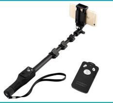 Combo gậy chụp hình tự sướng siêu dài + nút điều khiển Bluetooth tiện lợi