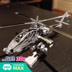 Mô Hình 3D Kim Loại Lắp Ráp Trực Thăng AH-64 Apache Quân Đội Mỹ [ Chưa Lắp]