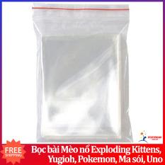 Sleeves bọc bài Mèo nổ Exploding Kittens, Yugioh, Pokemon, Ma sói, Uno bảo vệ bài 6.4 x 9 cm