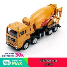 Xe đồ chơi mô hình, xe trộn bê tông cho bé chất liệu nhựa an toàn, kích thước lớn