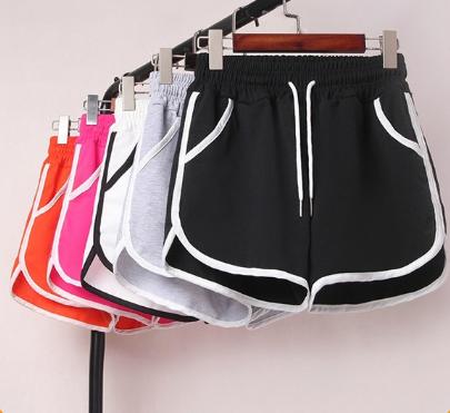 Quần đùi nữ thể thao, quần short viền chất thun cao cấp dày dặn nhiều màu sắc (ảnh và video thật)