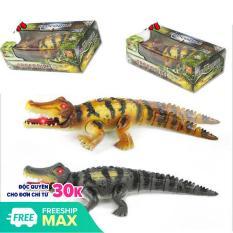 Đồ Chơi Cá sấu CROCODILE đồ chơi trẻ em chạy pin mô hình như thật giống thật 95% 2020 ( có video bên dưới )-( loại lớn 50 x 17 x 9 (cm)