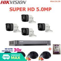 Bộ Camera Giám Sát Hikvison 5.0MP – Trọn Bộ Camera Hikvison 5.0MP Đầy Đủ Phụ Kiện Lắp Đặt