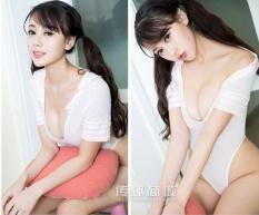 Cosplay nữ sinh một mảnh bodysuit bó sát ôm dáng kiểu đồ bơi bikini xẻ ngực sâu sexy táo bạo CNS002