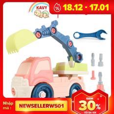 Đồ chơi lắp ráp mô hình xe xúc nhiều màu sắc kích thích giác quan của bé, kích thước rất lớn, nhựa an toàn (kèm vít) -KAVY