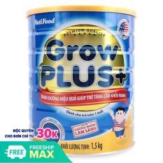Nuti Growplus xanh lon 1.5kg – Dinh dưỡng hiệu quả giúp trẻ tăng cân khoẻ mạnh