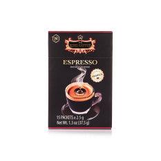 Cà Phê Đen Hòa Tan Espresso KING COFFEE – Hộp 15 gói x 2.5g – Arabica café hòa tan đậm hương vị cà phê Ý