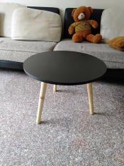 Bàn tròn đen sofa pk 60
