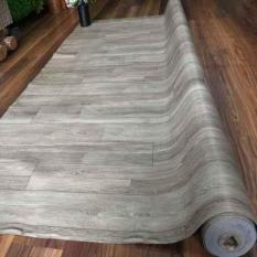 Simili trải sàn vân gỗ màu xám, mẫu mới ra, bề mặt có vân nhám – 1m²