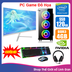 Bộ case máy tính Game LED CPU Dual Core E7/8xxx / Pentium G2010 / Ram 4GB-8GB / HDD 250GB – SSD 120GB / VGA 1 – 2GB chơi PUBG mobile, PUBG lite, LOL, CF đột kích, Fifa3, Cs Go, AOE … + Màn hình + [QÙA TẶNG: Bộ phím chuột game + tai nghe] – LLD