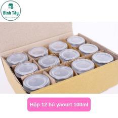 HŨ YAOURT BẰNG THỦY TINH 100ML + NẮP NHỰA (HỘP 12 HỦ) BT-A006-12C