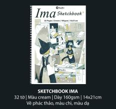 Sổ NaBii IMA Sketchbook 160gsm kích thước 14×21 cm (32 Tờ) A5