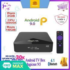[Giảm 8% Tối đa 500k] Android tivi box Magicsee N5 – Chip S905X siêu khủng – Android 9.0 – Ram 2GB – Rom 16GB – Xem truyền hình miễn phí