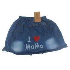 Quần váy jean cotton bé gái, Quần short jean cotton giả váy bé gái 3-10 tuổi